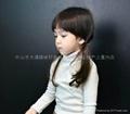 儿童高领白色T恤 3
