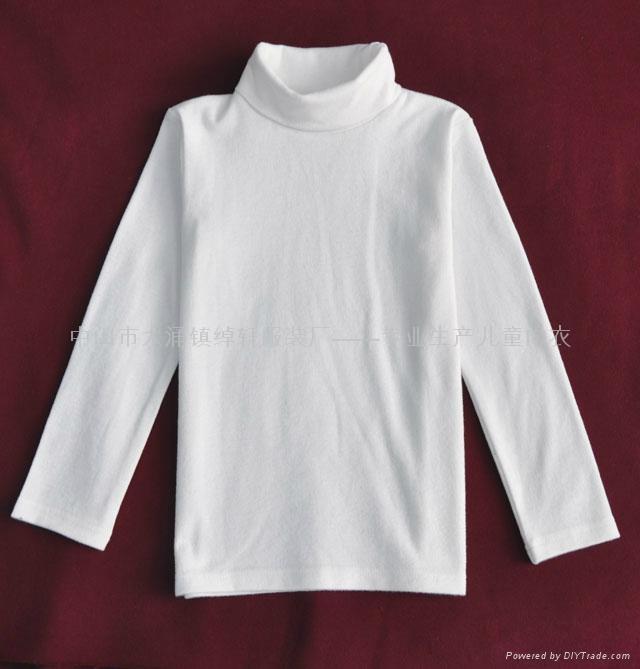 儿童高领白色T恤 4