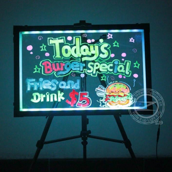 Illuminated Led Menu Board For Restaurant Zd T5 Zd