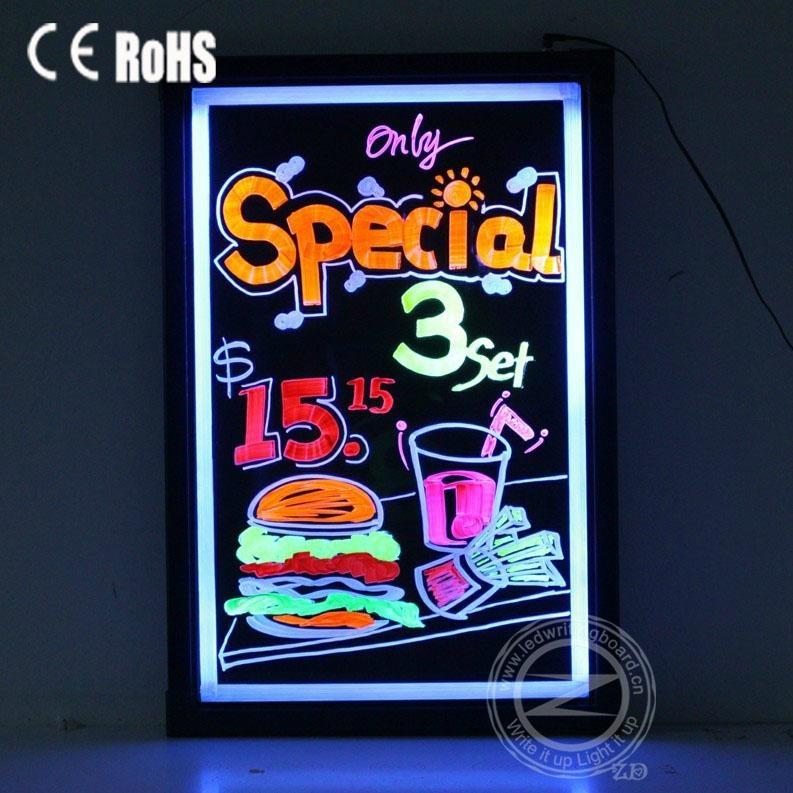 illuminated led menu board for restaurant zd t5 zd china