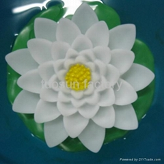 plastic led artificial floating flower