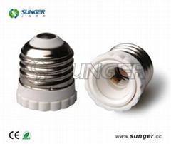 供應花邊樣式E26-E12轉換燈頭