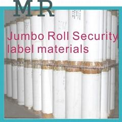 Jumbo rolls of ultra destrucitble vinyls