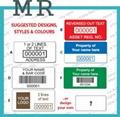 Destrucitble barcode labels