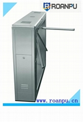 RFID stainless steel bi-direction waist height automatic tripod turnstile gate