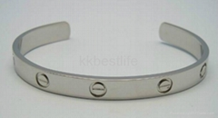 love style 316L stainless steel plating semi-circle bracelet with nail