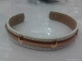 stainless steel lether  bracelet bangle for girls  several color can stretch 2