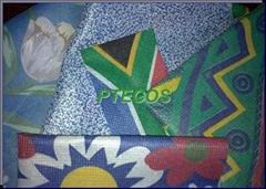 Printed stitchbonded polyester fabrics