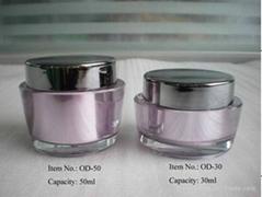 round acrylic jar