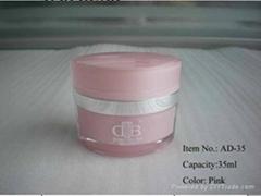 acrylic cosmetic jar