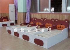 幼儿園專用單層床雙層床抽屜床