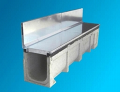 polymer resin drainage channel