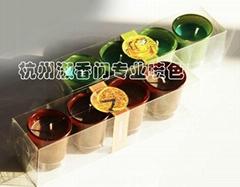11BH12003 set of 4 glass tealight holder