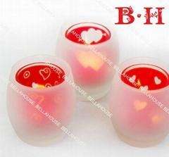 BH80030 glass tealight holder