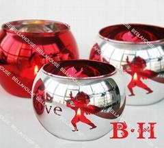 BH80028 Christmas egg shape candle holder