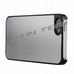 iPhone5 Case White Brushed Metal Aluminum Chrome Hard Back Skin Case for iPhone5