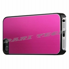 Fuschia Brushed Metal Aluminum Chrome Hard Back Skin Case Cover for iPhone 5