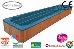 Balboa system longest endless swim spa/ hot tub/ jacuzzi(M-3326)