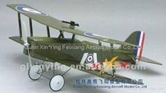 Radio control SE5a electric plane model