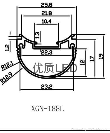 LED椭圆灯管外壳 1