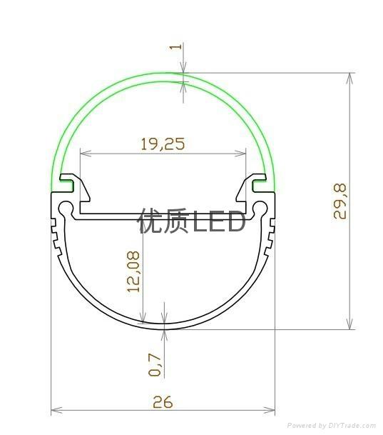 LED椭圆灯管外壳 2