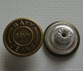 18mm brass jeans button