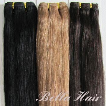 100% Human Hair Weft Hairextensions 2