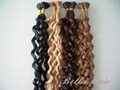 Stick I-tip Pre bonded Chinese and Indian Human Hairextensions 4