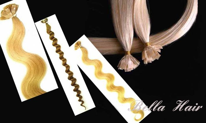 Flat tip Pre-bonded Chinese and Indian Human Hair Extensions 1