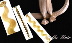 Flat tip Pre-bonded Chinese and Indian Human Hair Extensions