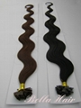Flat tip Pre-bonded Chinese and Indian Human Hair Extensions 4