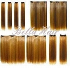 Clip in Full Head Set Chinese and Indian Human Hair Extensions
