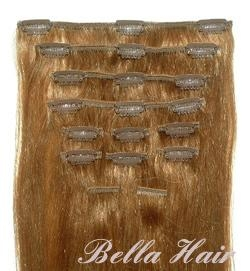 Clip in Full Head Set Chinese and Indian Human Hair Extensions 3