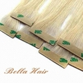 PU Skin Weft, 100% Chinese and Indian Human Hair Weave Hair Extensions 2