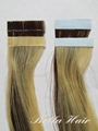 PU Skin Weft, 100% Chinese and Indian Human Hair Weave Hair Extensions 4