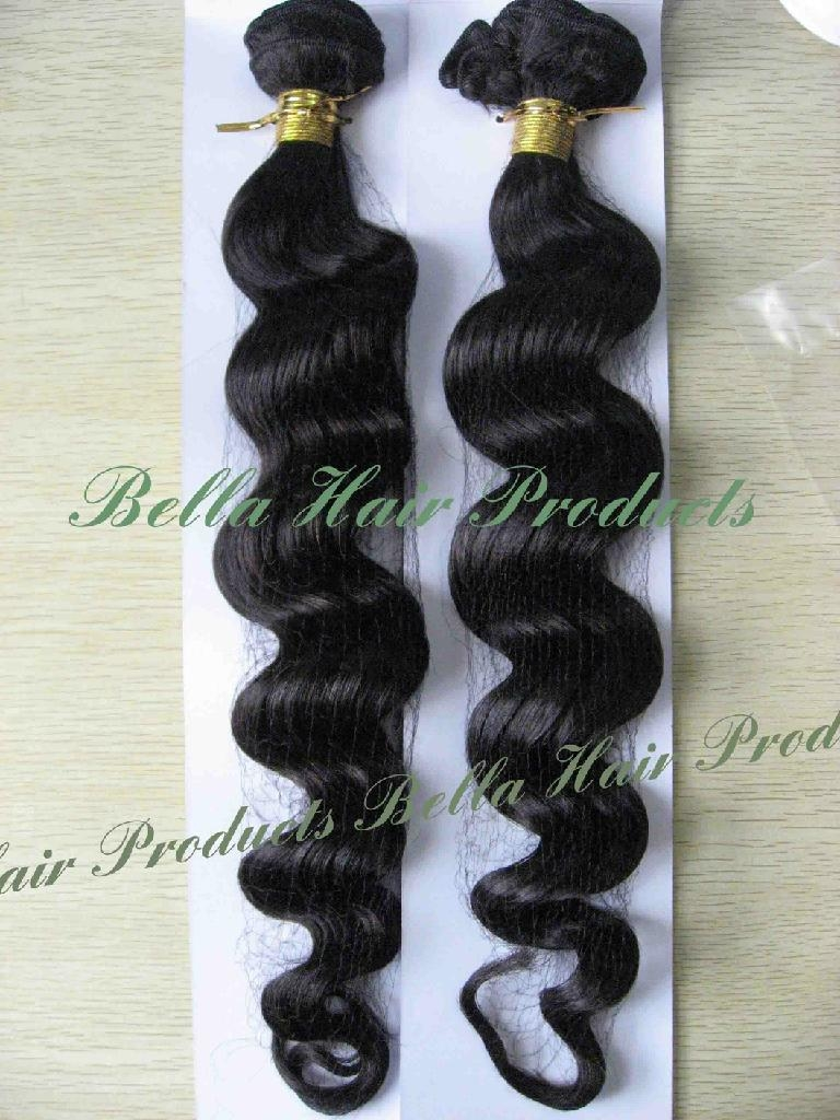 Loos Deep Hair Weft Extensions 100% Chinese and Indian Human Hair  1