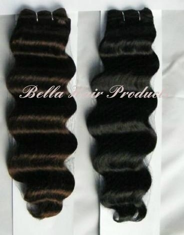 Loos Deep Hair Weft Extensions 100% Chinese and Indian Human Hair  2