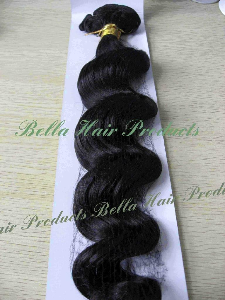 Loos Deep Hair Weft Extensions 100% Chinese and Indian Human Hair  4