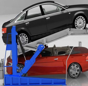Indoor Carport Use Simple Tilting Double Pallet Stackers Car Lift 1