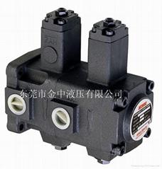 東莞金中液壓雙聯液壓油泵VP-DF-20-20