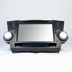 """Toyota Highlander 8"""" Touch Screen Digital Led Panel Special Car Dvd Player"""