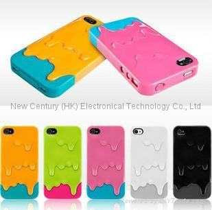 Lovely PC round hole fancy iphone cases cheapest back cover case of mobile phone 2