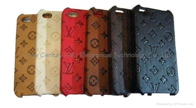 New leather design phone case for iphone4 case  3