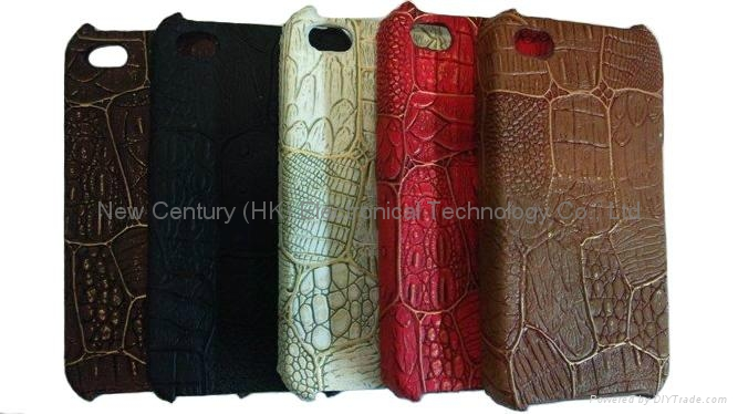 New leather design phone case for iphone4 case  1