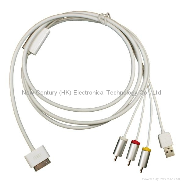 Composite A/V Cable for iphone Series 1