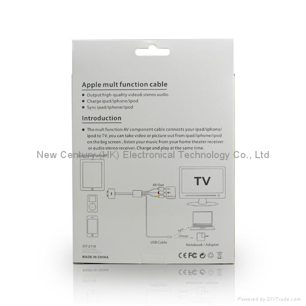 Composite A/V Cable for iphone Series 4
