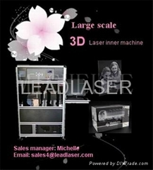 Photo crystal laser sub engraving machine