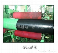 The supply of Tianjin Xu Di three layer PE insulation coating production line