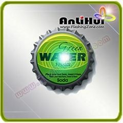 flashing bottle cap badge