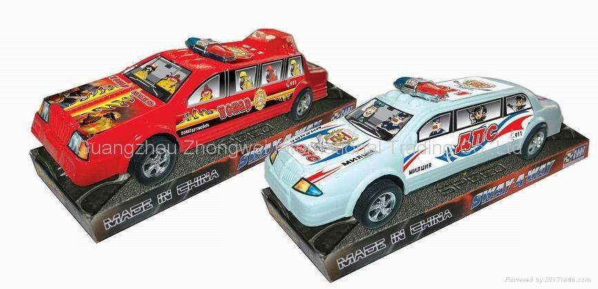 Plastic Pull Back Police Truck 4
